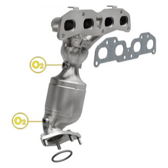 MagnaFlow® - Direct Fit Federal OEM Grade Exhaust Manifold with Integrated Catalytic Converter