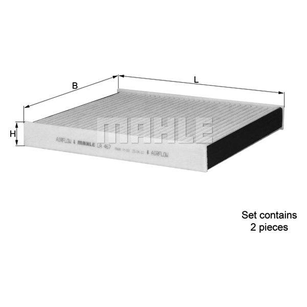 Bon Mahle®   Premium Activated Carbon Cabin Air Filter Set