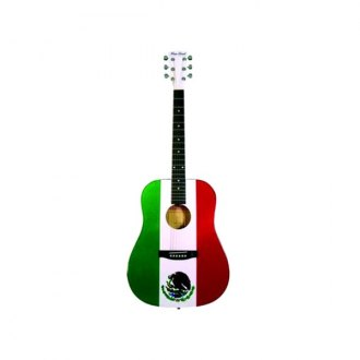 Main Street® - Dreadnought Acoustic Spruce Top Guitar (Mexican Flag)