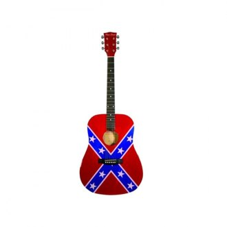 Main Street® - Dreadnought Acoustic Spruce Top Guitar (Rebel Flag)