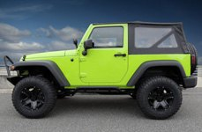 MAMBA® - M13X Matte Black on Green Jeep Wrangler