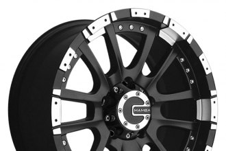 "MAMBA® - M12 Matte Black with Machined Accents (17"" x 9"", 0 Offset, 6x139.7 Bolt Pattern, 106.1mm Hub)"