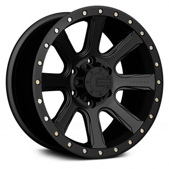 17 x 9. inches //6 x 139 mm, 12 mm Offset Mamba M13 Matte Black Wheel with Painted Finish