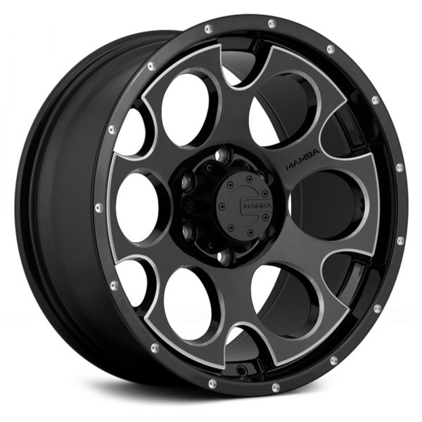 Glossy Black Trellis Wall Accent: Gloss Black With Machined Accents Rims