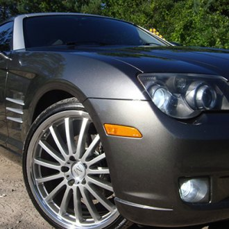 MANDRUS® - MILLENIUM Hyper Silver with Mirror Cut Lip on Chrysler Crossfire