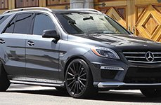 MANDRUS® - ROTEC Matte Black on Mercedes ML63