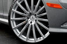 MANDRUS® - ROTEC Silver with Machined Face on Mercedes S Class