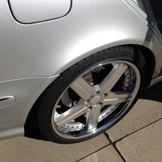 MANDRUS® - STUTTGART Silver with Mirror Cut Face and Chrome Lip on Mercedes C Class