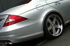MANDRUS® - STUTTGART Silver with Mirror Cut Face and Chrome Lip on Mercedes CLS Class