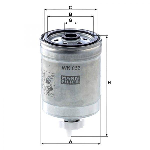 mann filter volvo s60 2006 fuel filter. Black Bedroom Furniture Sets. Home Design Ideas