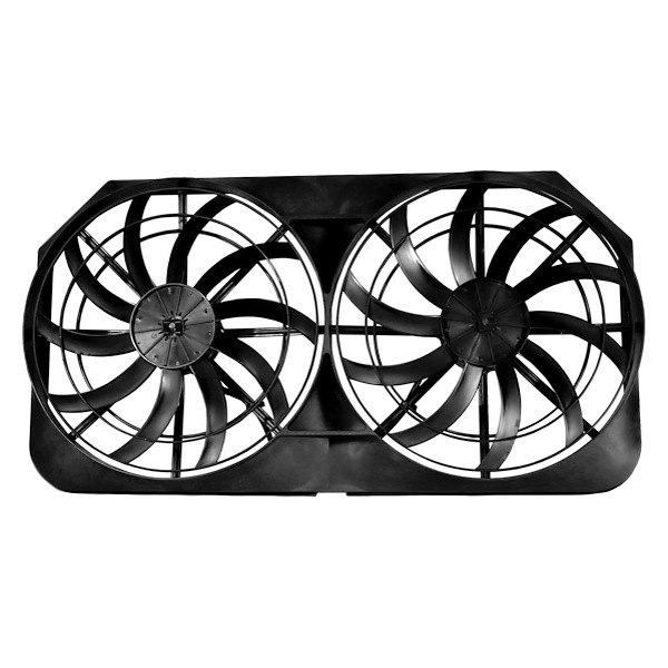 "Dual 16/"" Extreme S-Blade Electric Cooling Radiator Fans w// Mounting Kit High CFM"