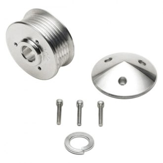March Performance® - 6-Rib Aluminum Alternator Serpentine Pulley with Cover