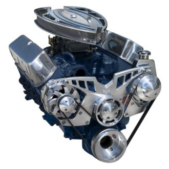 March Performance® - Pro-Track Chrome Alternator and Power Steering Only Serpentine All Inclusive Kit
