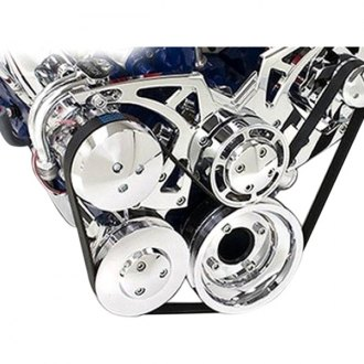 March Performance® - Style Track Alternator with Optional Power Steering Serpentine All Inclusive Kit