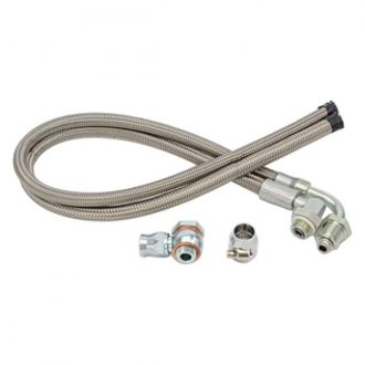 March Performance® - Stainless Braided Power Steering Hose Kit