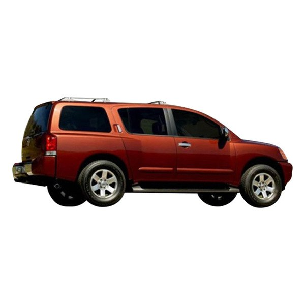 WITHOUT Passenger Keyhole A-PADS 4 Chrome Door Handle Covers for Nissan TITAN 2004-2015