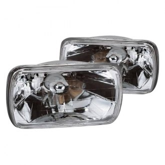 "Marquee® - 4x6"" Rectangular Chrome Crystal Headlights"