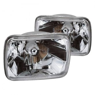 "Marquee® - 7x6"" Rectangular Chrome Crystal Headlights"