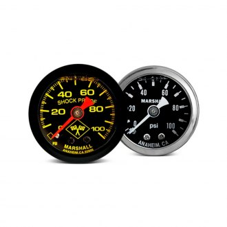 "Marshall Instruments® - 1-1/2"" In-Dash Mechanical Liquid Filled Pressure Gauges"