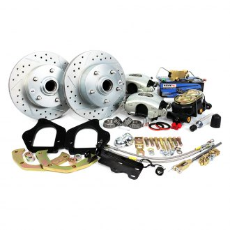 Master Power Brakes® - Legend Series Drilled and Slotted Front Brake Conversion Kit