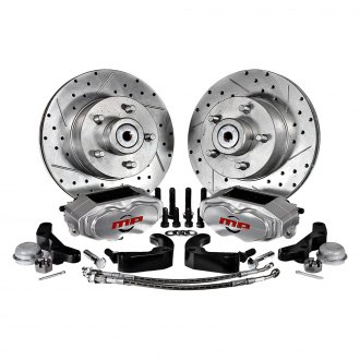 Master Power Brakes® - Rallye Series Drilled and Slotted Front Brake Conversion Kit