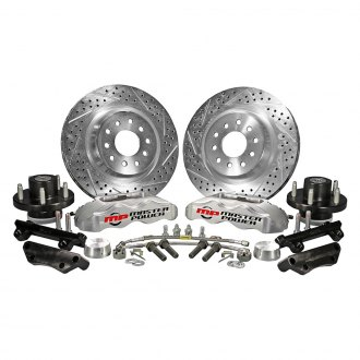 Master Power Brakes® - Pro Driver Drilled and Slotted Front Brake Conversion Kit