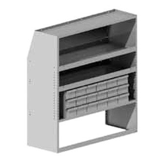 Masterack® - Tool Cabinet with Utility Shelving Module