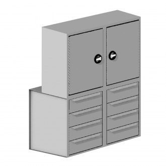 Masterack® - Cabinet and Drawer Stack Module