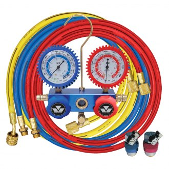 "Mastercool® - R134a 2-Way Aluminum Manifold Gauge Set with 72"" Hoses and Snap-n-Seal Couplers"