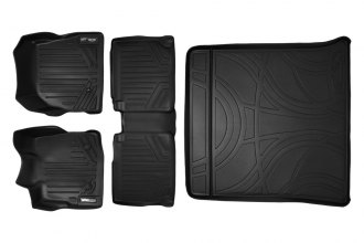 MaxLiner® A0119/B0070/D0070 - MaxFloormat™ Black Floor Liners, Complete Set with Cargo Liner (1st and 2nd Row)