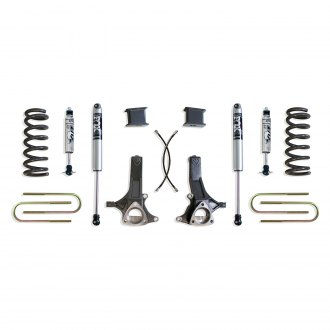 "MaxTrac Suspension® - 7"" x 4"" Front and Rear Suspension Lift Kit"