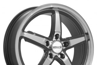 "MAXXIM® - ALLEGRO Graphite with Machined Face and Lip (17"" x 7.5"", +40 Offset, 5x114.3 Bolt Pattern, 73.1mm Hub)"