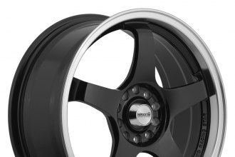 "MAXXIM® - CHAMPION Black with Machined Lip (17"" x 7"", +40 Offset, 5x114.3 Bolt Pattern, 73.1mm Hub)"