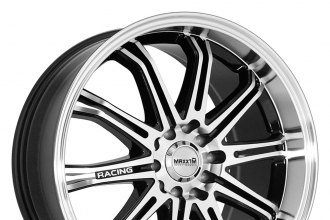 "MAXXIM® - FERRIS Black with Machined Face and Lip (15"" x 6.5"", +38 Offset, 4x100 Bolt Pattern, 73.1mm Hub)"