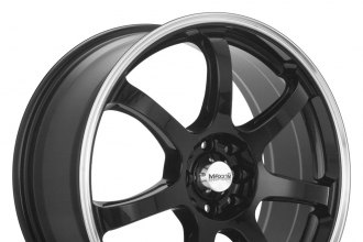 "MAXXIM® - KNIGHT Gloss Black with Machined Lip (17"" x 7"", +40 Offset, 5x114.3 Bolt Pattern, 73.1mm Hub)"