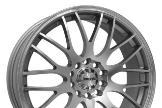 "MAXXIM® - MAZE Silver with Machined Face (17"" x 7"", +40 Offset, 4x100 Bolt Pattern, 73mm Hub)"