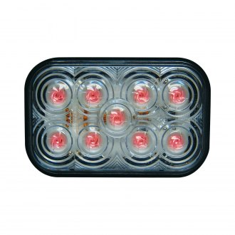 "Maxxima® - 5x3"" Rectangular Chrome LED Tail Light"