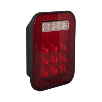 Maxxima® - Chrome/Red LED Tail Light