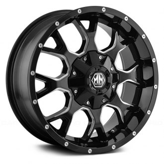 MAYHEM® - 8015 WARRIOR Black with Milled Spokes