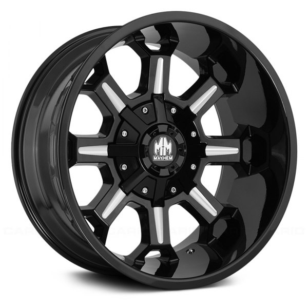 Mayhem 174 Combat Wheels Black With Milled Spokes Rims