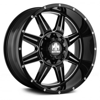 MAYHEM® - MONSTIR Black with Milled Spokes