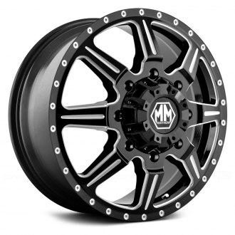 MAYHEM® - 8101 MONSTIR DUALLY Black with Milled Spokes