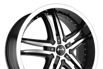 "MAZZI® - SMOKE Black with Machined Face and Lip (18"" x 7.5"", +40 Offset, 5x112 Bolt Pattern, 72.62mm Hub)"