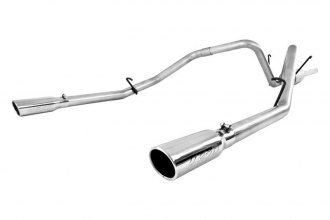 MBRP® S5126AL - Installer Series™ Aluminized Steel Cat-Back Exhaust System (Dual Split Rear Exit)