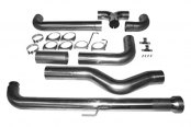 MBRP® - Installer Series™ Down Pipe-Back Exhaust System - Dual Smokers™ Stack Kit