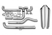 MBRP® - XP Series™ Down Pipe-Back Exhaust System - Dual Smokers™ Stack Kit