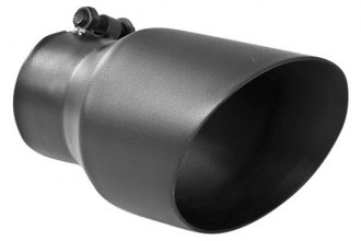 "MBRP® T5151BLK - Black Dual Wall Angled Tip (3"" Inlet / 4.5"" Outlet, 8"" Length)"