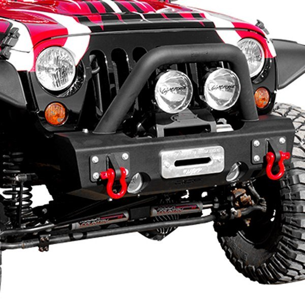 Mbrp 131175 stubby black front winch hd bumper with hoop mbrp stubby front hd black bumper mozeypictures Images