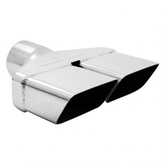 "MBRP® - 304 SS Rectangular Angle Cut Clamp-On Polished Exhaust Tip (2.5"" Inlet, 8.25"" Length)"