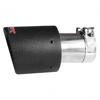 MBRP® - Round Angle Cut Clamp-On Double-Wall Carbon Fiber Exhaust Tip